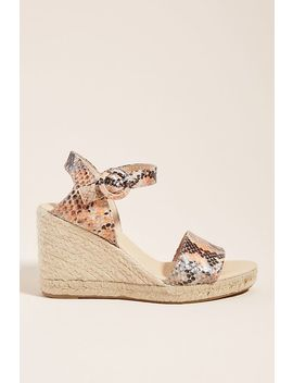 Chio Snake Printed Espadrille Wedge Heels by Chio
