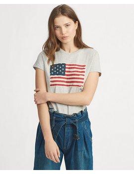Flag Cotton Tee by Ralph Lauren