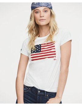 Flag Jersey Graphic T Shirt by Ralph Lauren