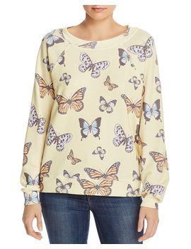 Flutter Away Butterfly Print Sweatshirt by Wildfox