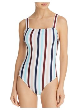 Striped One Piece Swimsuit by Shoshanna