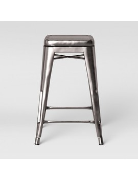 Carlisle Backless Swivel 1 Counter Stool Silver   Threshold by Threshold