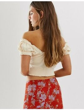 New $68 Free People Brighter Days V Neck Peach Crop Top Small by Ebay Seller