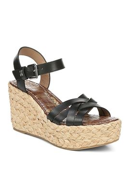 Women's Darline Espadrille Wedge Heel Platform Sandals by Sam Edelman