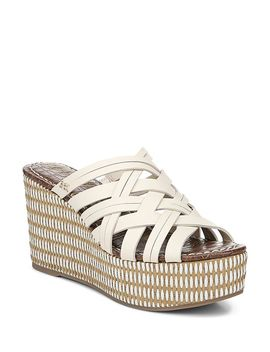 Women's Devon Woven Wedge Heel Platform Sandals by Sam Edelman