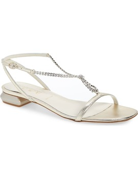 Yvette Crystal T Strap Sandal by Something Bleu
