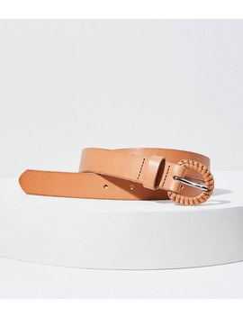Braided Buckle Leather Belt by Loft