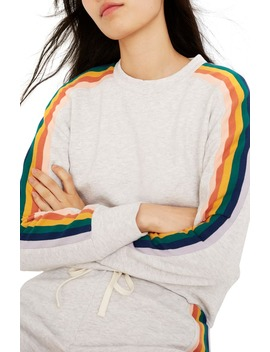 Rainbow Inset Crop Sweatshirt by Madewell