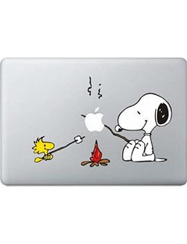Snoopy Bbq Decal Color Sticker For Mac Book Pro Laptop Computer Decorative Vinyl Stickers Mac Air Fits 13 And 15 Inch by Delzam
