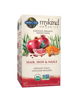 Garden Of Life My Kind Organics Vegan Hair, Skin & Nails Dietary Supplement Tablets   60ct by 60ct