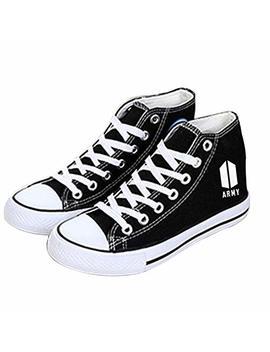Kpop Bts Bangtan Boys Canvas Shoes Jungkook Jimin V Suga Casual Shoes For Women And Girls by Xushan