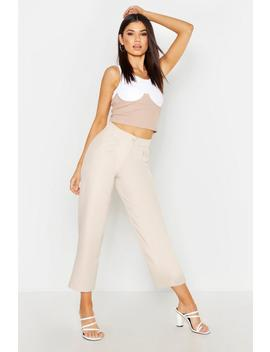 The Tailored Slouchy Cropped Trouser by Boohoo