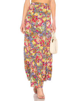 Magnolia Violet Maxi Skirt by Auguste