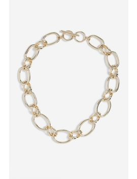 **Chunky Double Link Necklace by Topshop