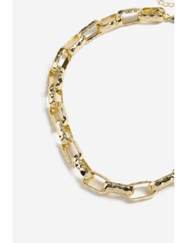 **Rectangle Link Collar Necklace by Topshop