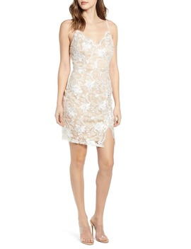 Scallop Neck Lace Slipdress by Love, Nickie Lew