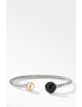 Solari Xl Cable Bracelet With Black Onyx, Gold Dome And 14 K Yellow Gold by David Yurman