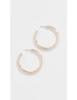 T Stretch Hoop Earrings by Tory Burch