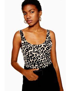 Leopard Print Scoop Bodysuit by Topshop
