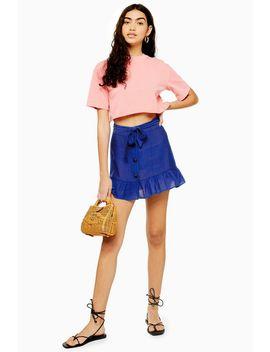 Flippy Button Mini Skirt by Topshop