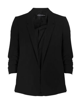 Black Ruched Sleeve Jacket by Dorothy Perkins
