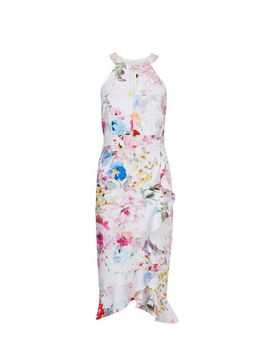 **Showcase Multi Colour Floral Print Bodycon Midi Dress by Dorothy Perkins
