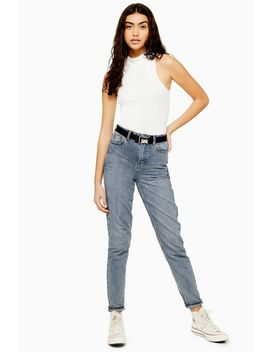 Grey Cast Seatbelt Mom Jeans by Topshop