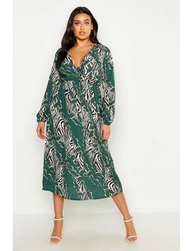 Plus Chain Print Midi Dress by Boohoo