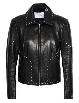 Studded Leather Jacket by Frame