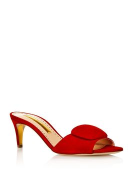 Women's Gwyneth Kitten Heel Mules by Rupert Sanderson