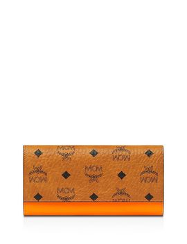 Patricia Large Monogrammed Patent Leather Wallet by Mcm