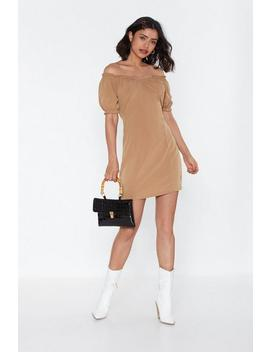 I Must Be Off The Shoulder Mini Dress by Nasty Gal