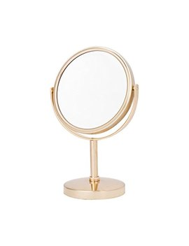 Danielle Two Sided 5 X Magnification Round Vanity Mirror, Brushed Gold by Danielle