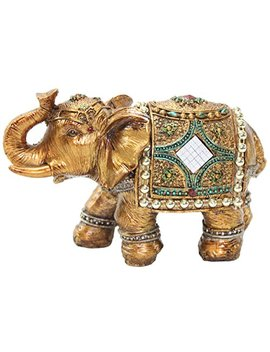 """Stunning Gold Color 6"""" Elephant Trunk Statue Wealth Lucky Feng Shui Figurine Home Decor Birthday Congratulatory House Warming Gift Us Seller (G16180) by We Pay Your Sales Tax"""