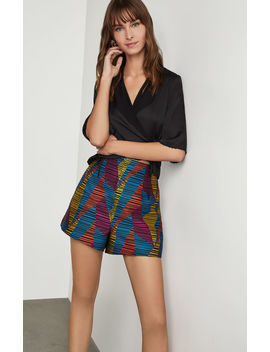 Geo Print Striped Short by Bcbgmaxazria