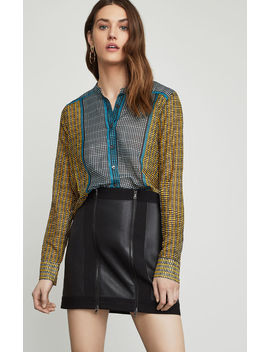 Border Weave Tie Front Shirt by Bcbgmaxazria