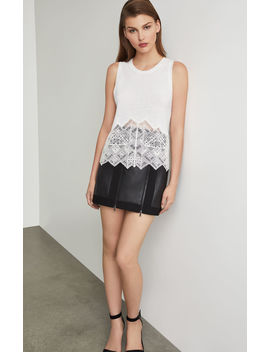 Crochet Crewneck Tank Top by Bcbgmaxazria