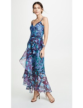 Sleeveless Colorblock High Low Gown by Marchesa Notte