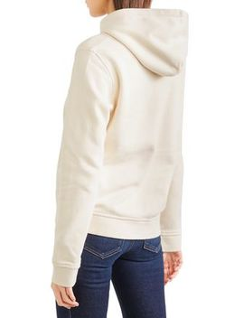Lott Isoli Embroidered Cotton Jersey Hooded Sweatshirt by Ganni