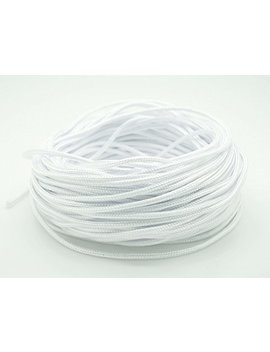 White 2mm Chinese Knot Nylon Cord Shamballa Macrame Beading Kumihimo String   20 Yards by Craft & Beads