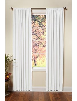 Cotton Craft   Set Of 2 100 Percents Cotton Duck Reverse Tab Top Curtain Panel Set   50x108   White   Classic Elegance For A Clean Crisp Look   Each Panel Is 50 In Wide by Cotton Craft