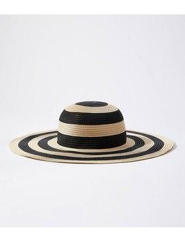 Striped Straw Hat by Loft
