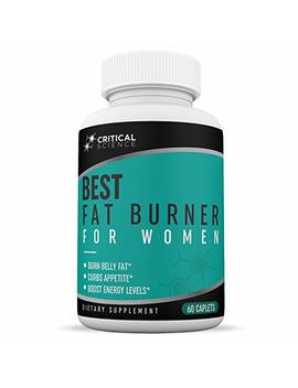 Critical Science Best Fat Burner For Women   Promotes Healthy Weight Loss   Loss Unwanted Pounds   Burn Fat Fast   Natural Ingredients To Boost Metabolism   One Month Supply by Critical Science