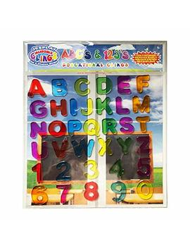 Jes Play Abc & 123 Gel Clings   Full Alphabet Letters And Numbers Window Clings For Kids   36 Removable And Reusable Educational Gel Decals For Home, Airplane, Classroom, Nursery Decoration by Jes Play