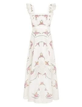 Allia Cross Stitch Long Dress by Zimmermann