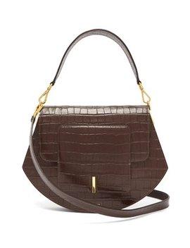 Al Crocodile Effect Leather Cross Body Bag by Wandler
