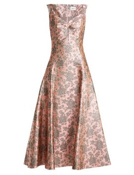 Verna Floral Jacquard Gown by Erdem