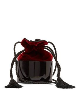 Lola Velvet And Lacquer Shoulder Bag by Hunting Season