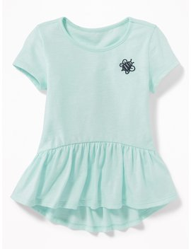 Graphic Jersey Peplum Hem Tee For Toddler Girls by Old Navy