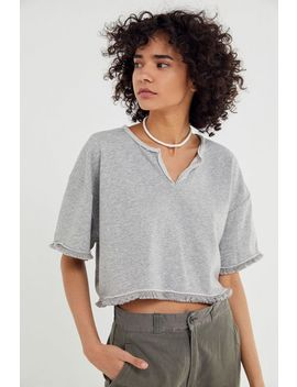 Uo Coco Fringe Cropped Sweatshirt by Urban Outfitters